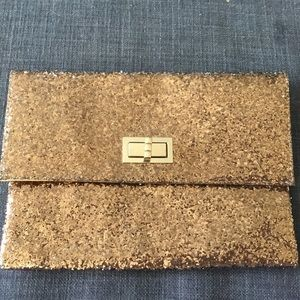 Gold sparkley clutch
